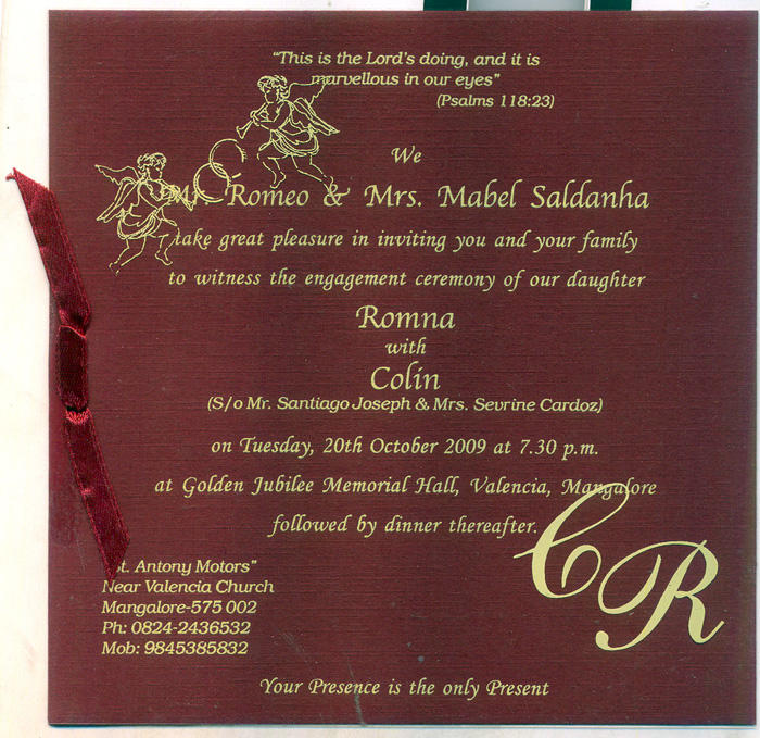 meera printers - Christian Wedding Card Messages